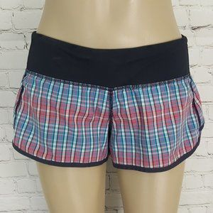Lululemon Speed Shorts Rad Plaid Blue Passion sz 6